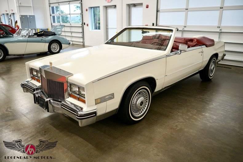 Cadillac Eldorado Biarritz cabriolet 1984 prix tout compris 1984