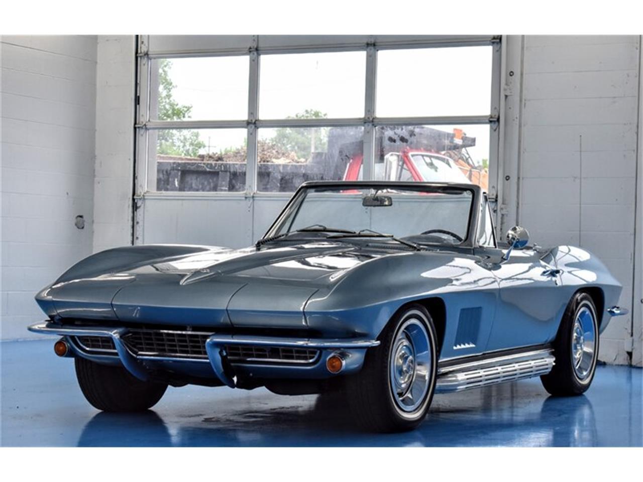 Chevrolet Corvette C2 décapotable elkhart blue 1967 prix tout compris 1967