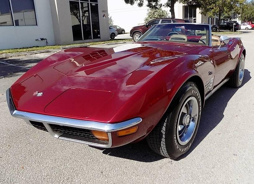 Chevrolet Corvette V8 350 1972 prix tout compris 1972