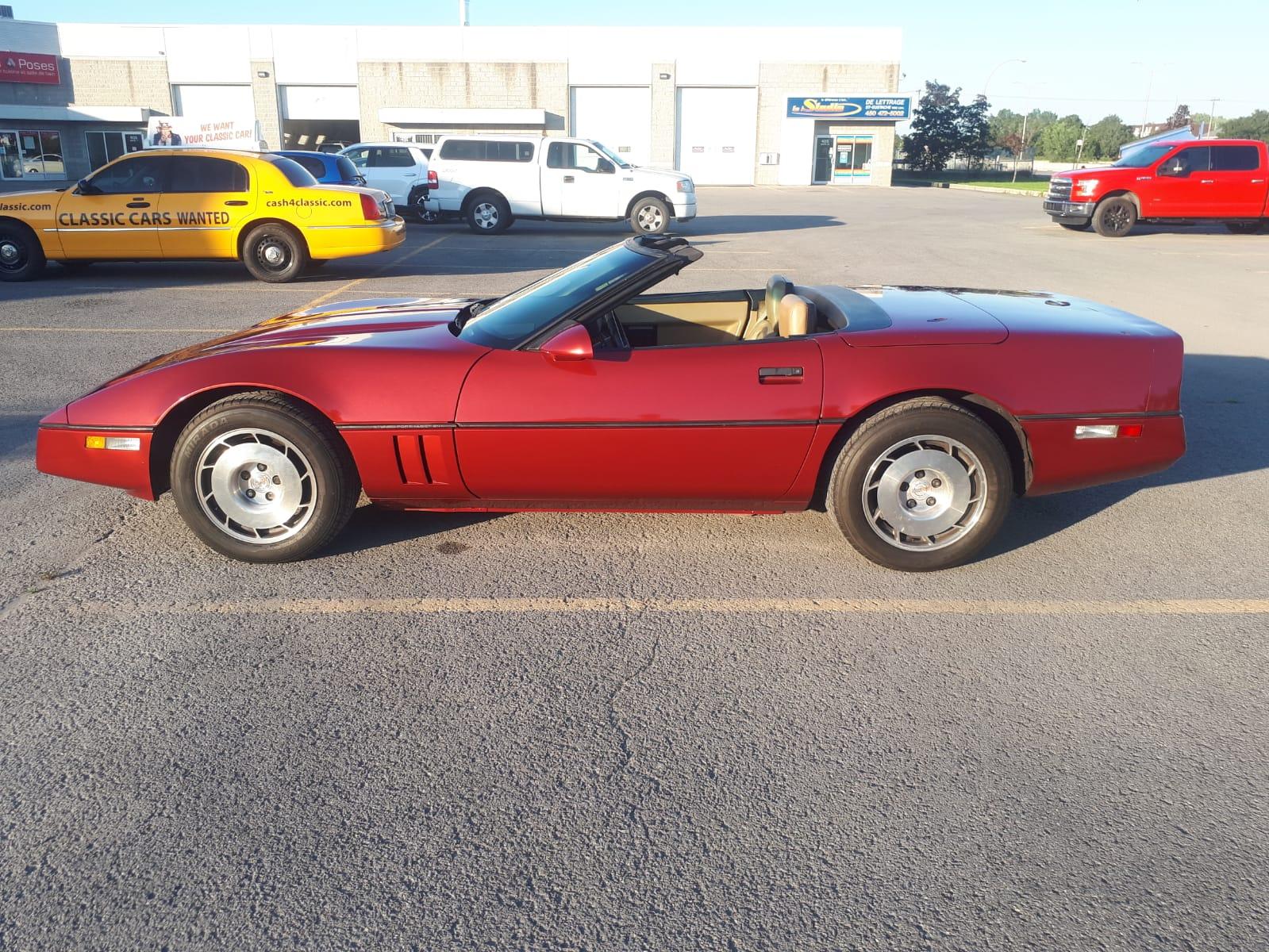 Chevrolet Corvette V8 1986 prix tout compris 1986