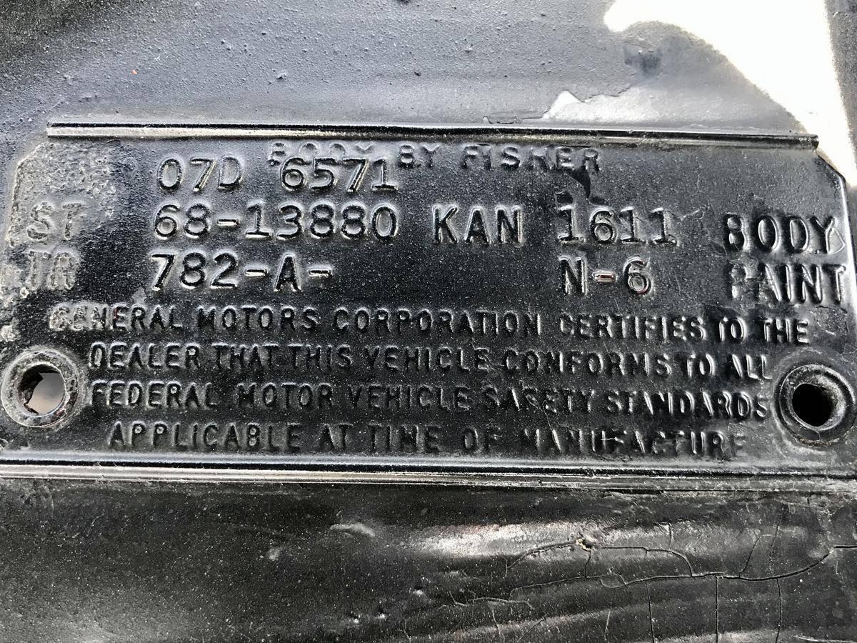 Chevrolet El CAMINO Ss 396 v8 1968 prix tout compris