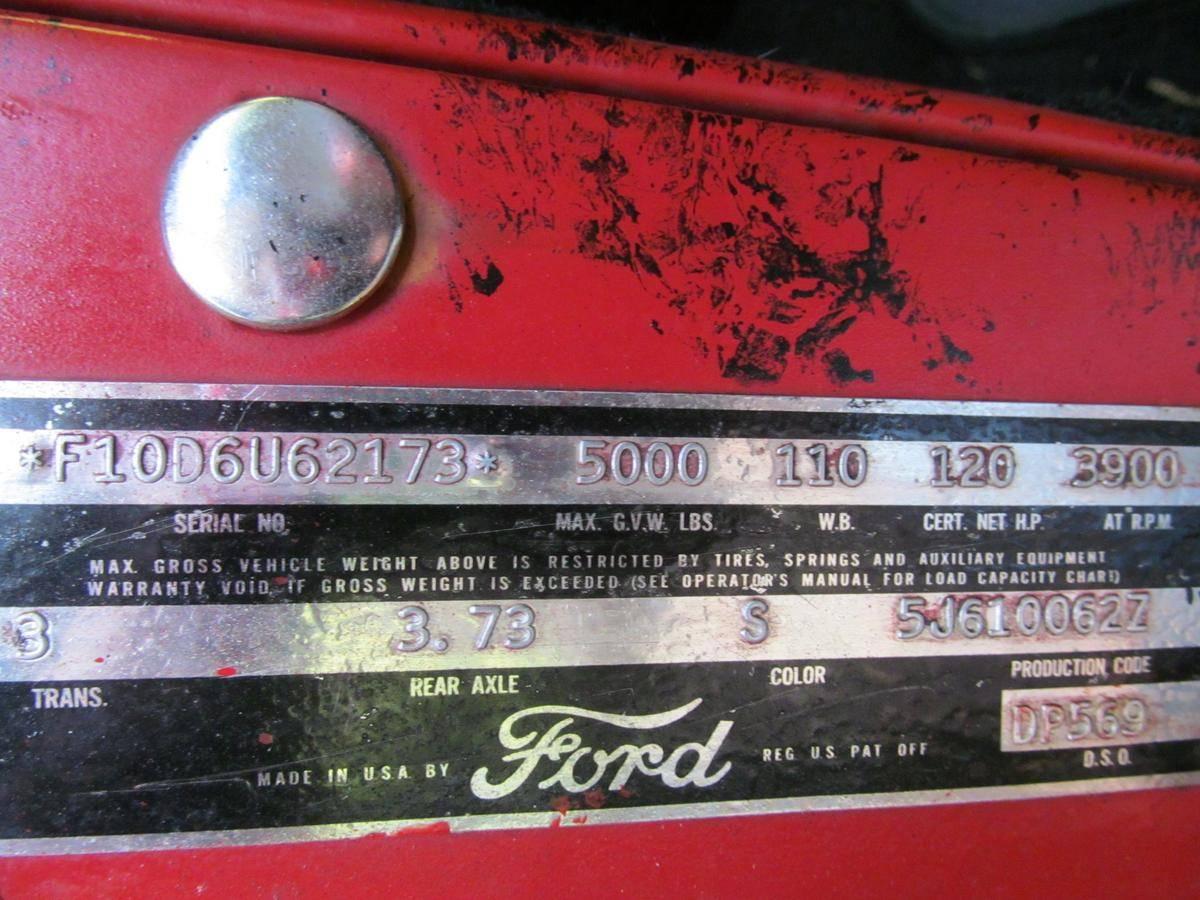 Ford F100 351 v8 1956 prix tout compris
