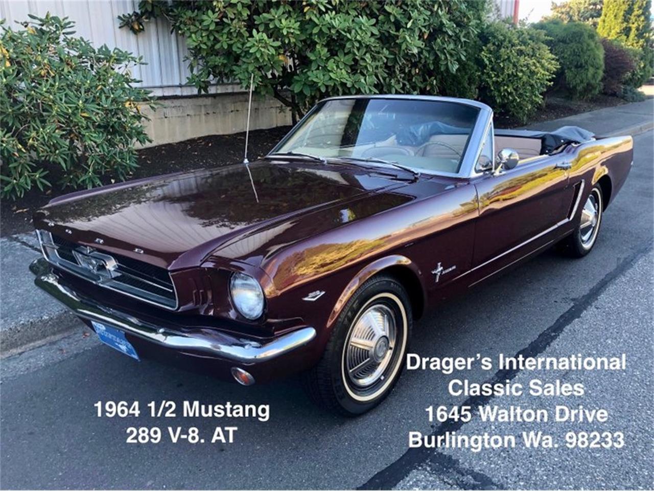 Ford Mustang V8 code d 1964 prix tout compris 1964