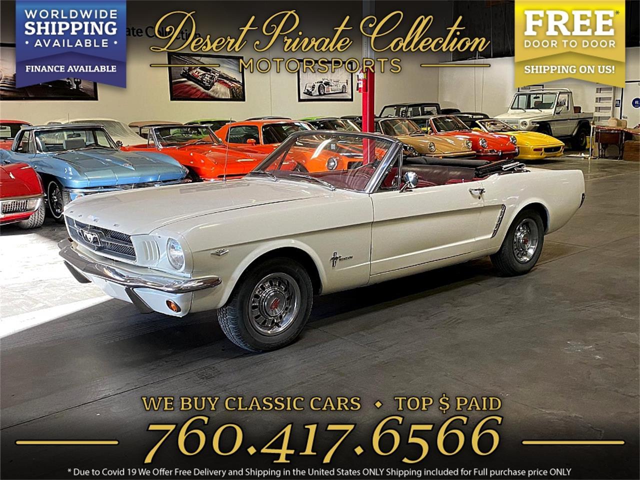 Ford Mustang V8 289 1965prix tout compris 1965
