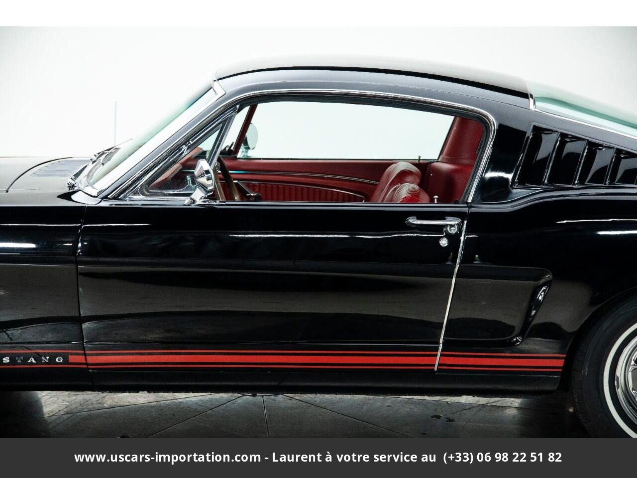 Ford Mustang Fastback code a pony pack 1965v8 prix tout compris