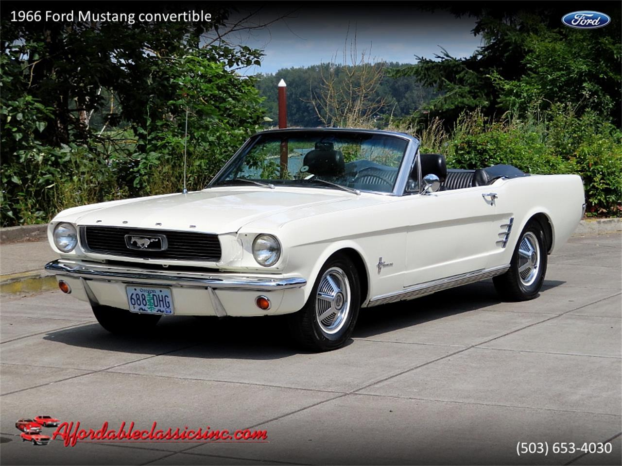 Ford Mustang Pony pack v8 289 1966 prix tout compris 1966