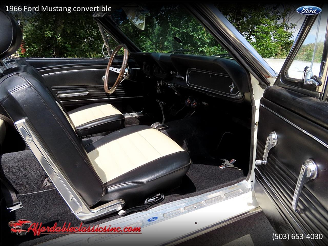 Ford Mustang Pony pack v8 289 1966 prix tout compris
