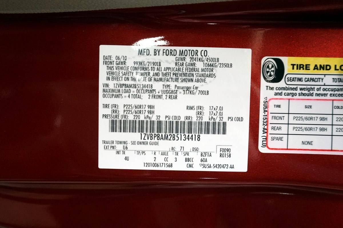 Ford Mustang 2011 prix tout compris hors homologation 4500€