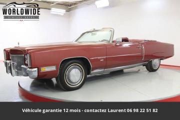 1971 Cadillac Eldorado 8.2L V8 1971 Prix tout compris